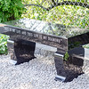 A bench dedicated in memory of Frankie Fortuna can be seen in Leominster on Thursday afternoon. SENTINEL & ENTERPRISE / Ashley Green