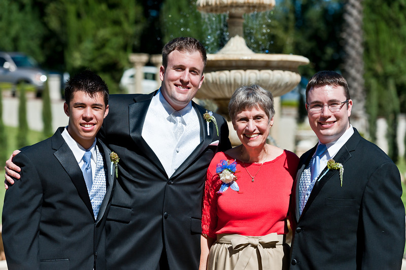 Diane and grandsons Michael, Jeremy and Jeff