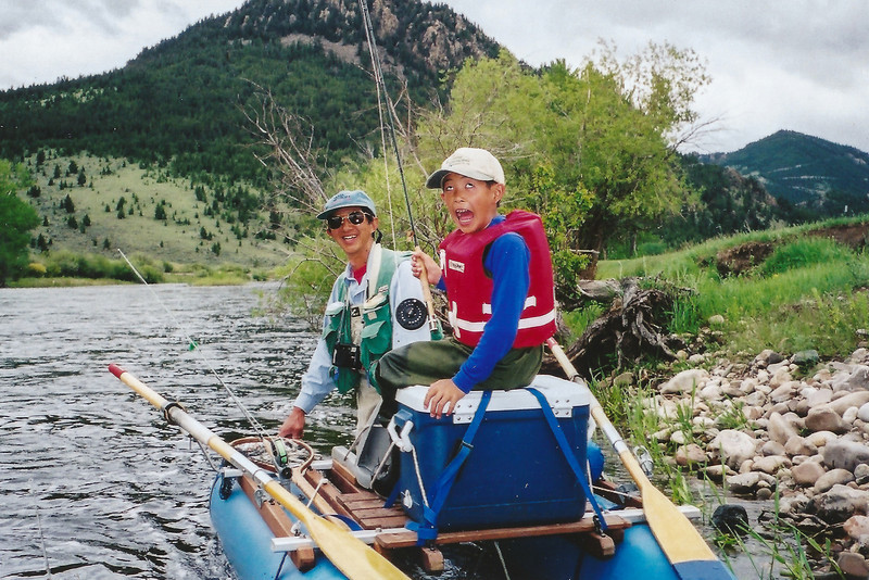 Big Hole River, Montana float during the salmonfly hatch, Bob and David