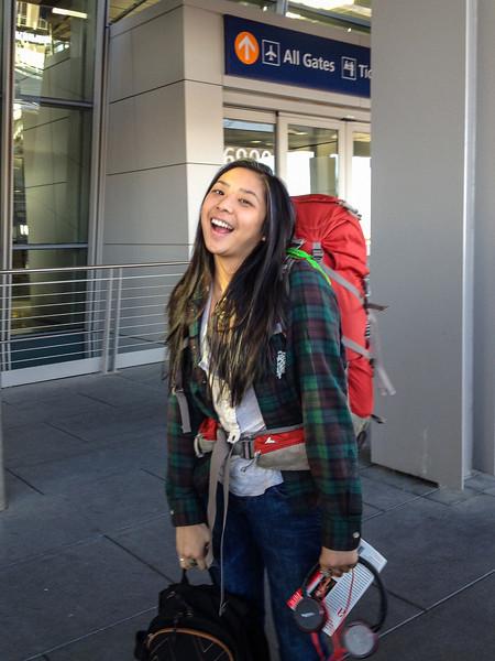 Sarah headed back to OSU, January 2014