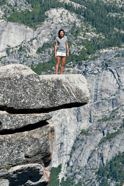 Sarah at Glacier Point
