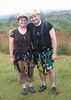 David and Amy ziplining in Kauai