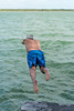 Dave takes a dip into Laguna Bacalar