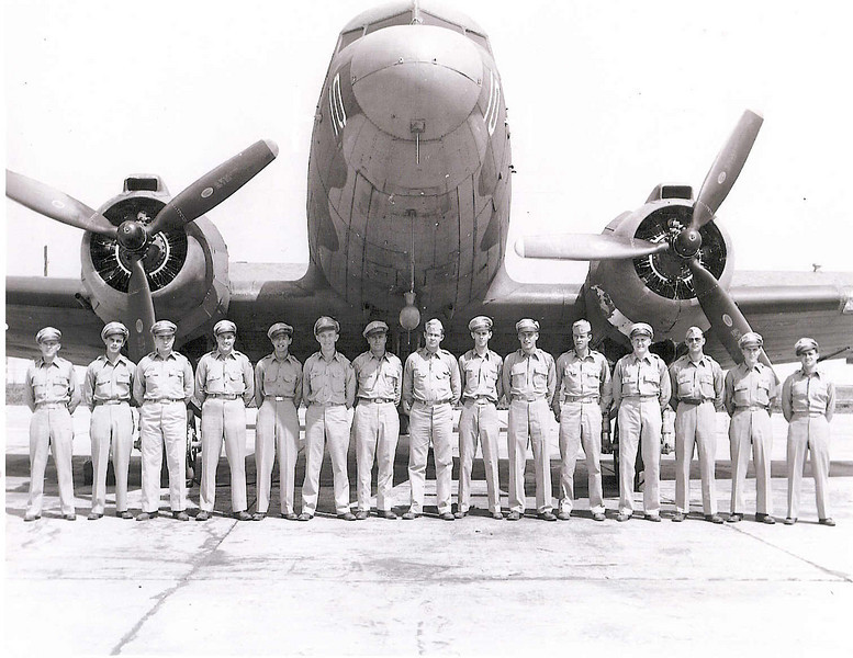 Dewey KK Lowe, Flight D, 1st Combat Cargo Group, 4th Squadron, Bowman Field, Louisville Kentucky, August 1,1944 (fifth from left)