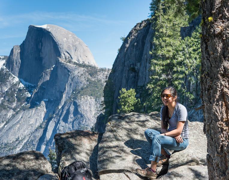Sarah on the Four Mile Trail, Yosemite