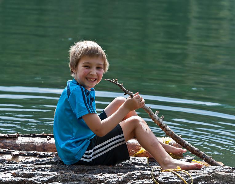 Forrester, rafting at Lindsey Lake