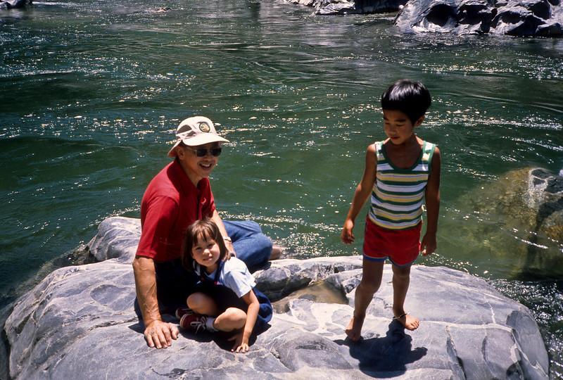 Dewey, Kim and Yoshi, South Yuba River