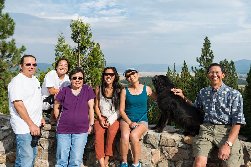 Yuba Pass with Ryan, Janet, Karen, Sarah, Jet, Jake, and Bob