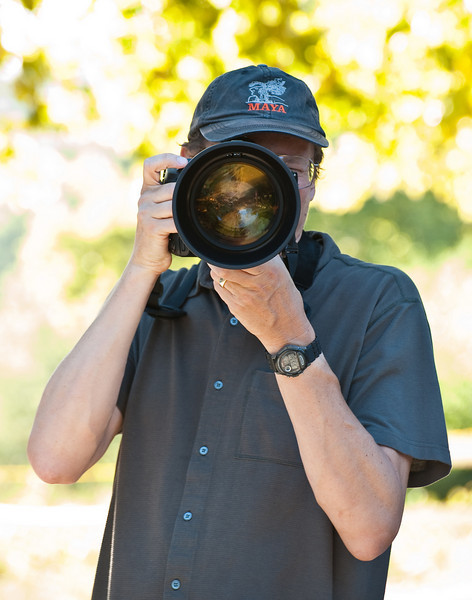 John Mallery hefts the fabulous 200mm f2 at Loma Rica Ranch