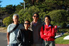 Dave, Jet, Bob, Stephanie in the wind, Berkeley Marina