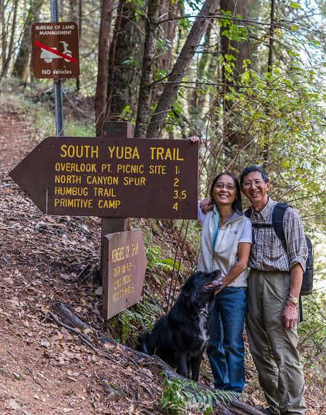 Jet, Jake, and Bob, South Yuba Trail, November 2012
