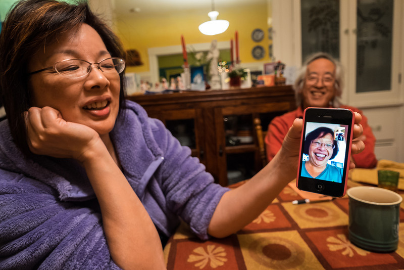 Face Time to Hawaii from Berkeley, Sylvia, Sharon, and Dave December 2013