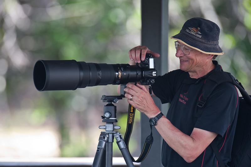 John Mallery enjoying Wakodahatchee Wetlands, Florida