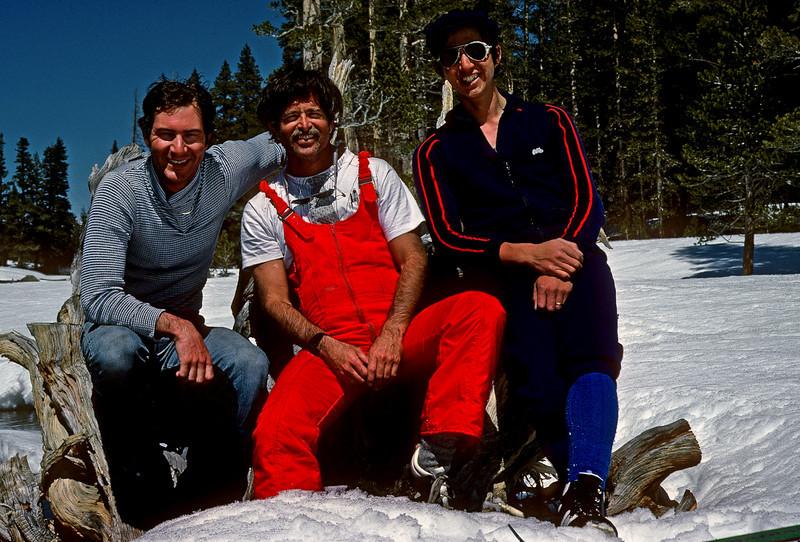 Minor, Joel, and Bob, Rock Creek basin, high Sierras