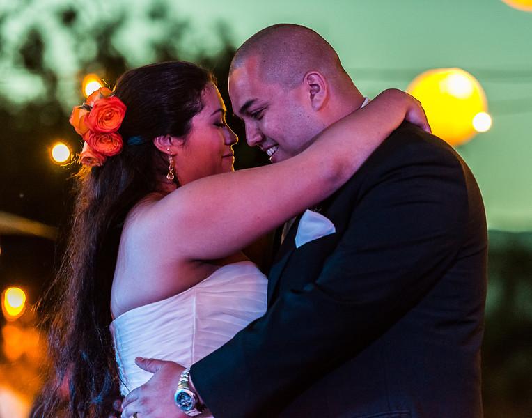 Heather and Joel, bride and groom
