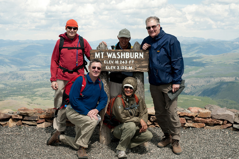 Stunning panoramas from the top of Mount Washburn, a wonderful day hike in Yellowstone - bring a windbreaker!