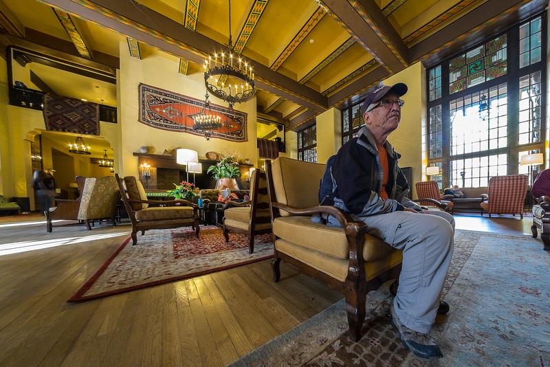 Dave in the Awahnee Hotel, Yosemite
