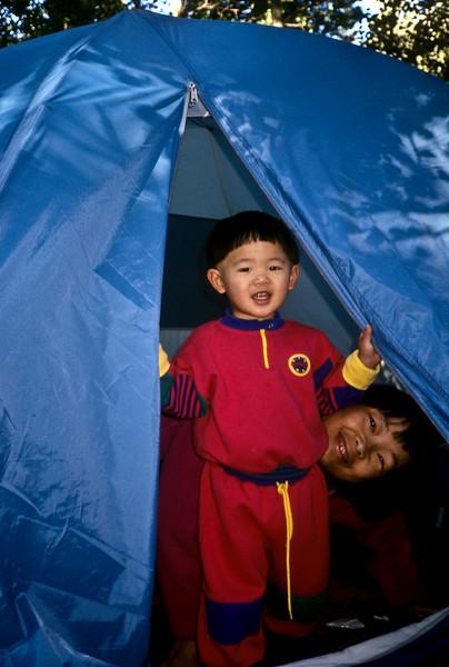 Tent, David and Jet