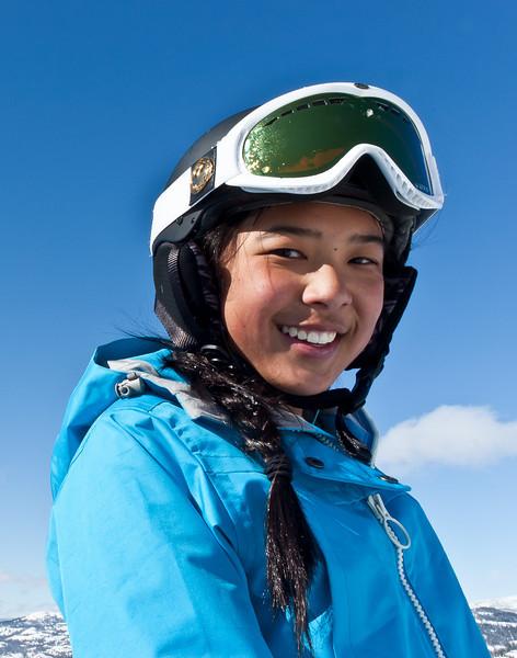 Sarah at Sugarbowl ski resort