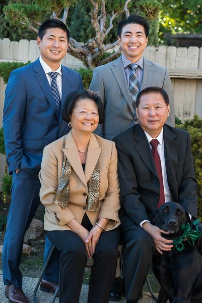 Richard, Michael, Dorothy and Wayne Ouchida -  Christmas 2014