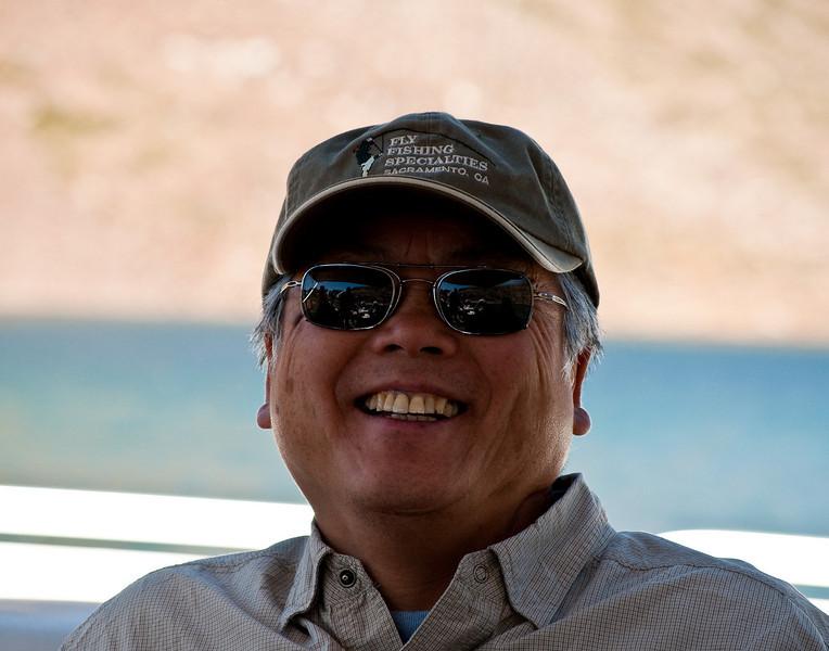 Don on the Saddlebag Lake ferry