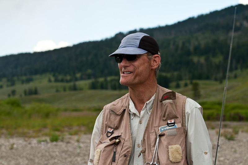 Scott Kellermann in Yellowstone, Slough Creek