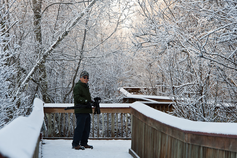 Don, Chilkat River Eagle Preserve boardwalk, November