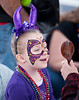 Facepainting at Mardi Gras, Nevada City