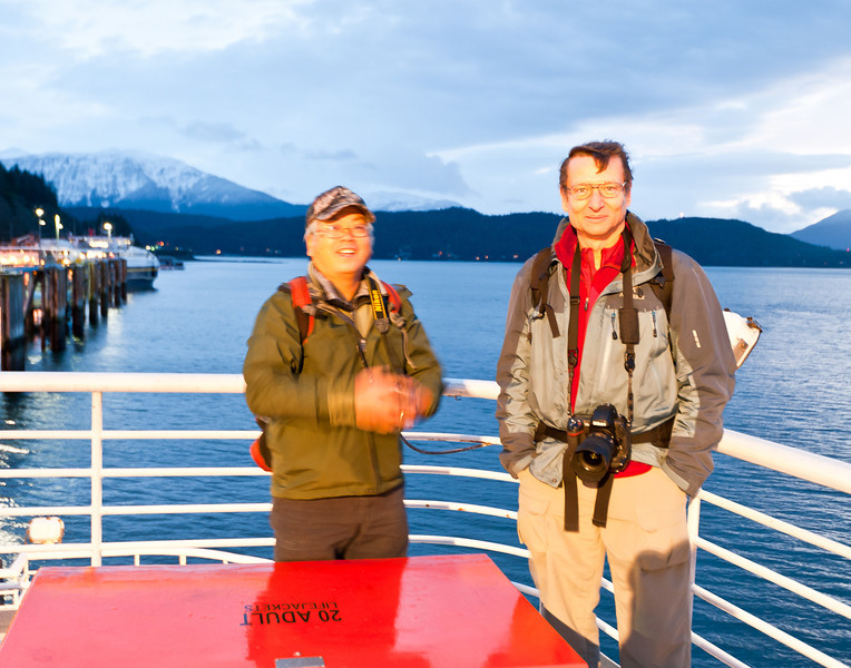 7 am ferry departure, Don and John