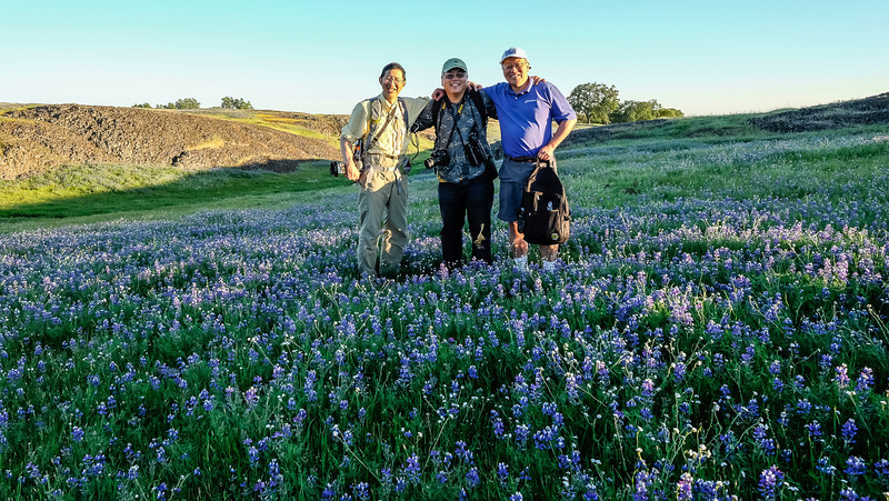 Lupines at Table Mountain with Don and Audie