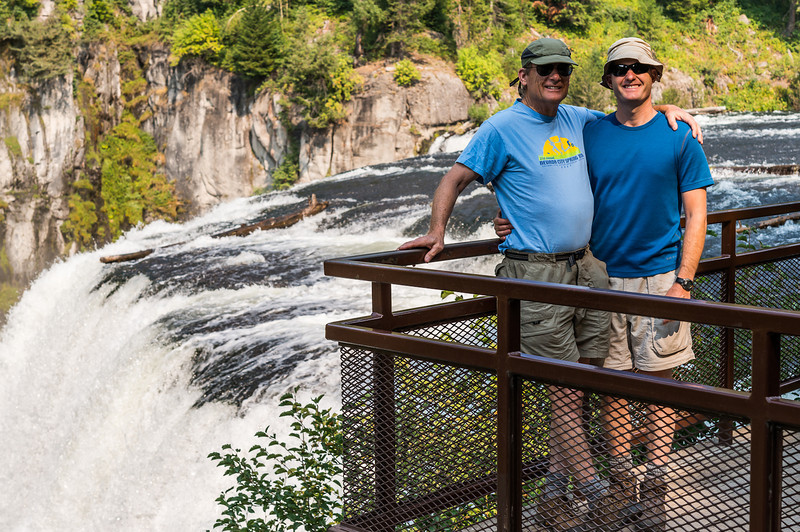 Scott and Seth, Upper Mesa Falls Idaho