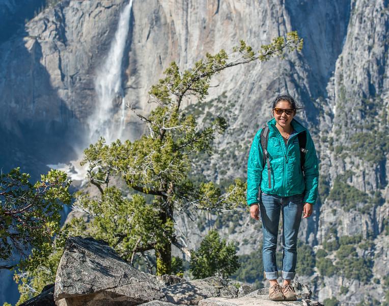 Sarah and Yosemite Falls