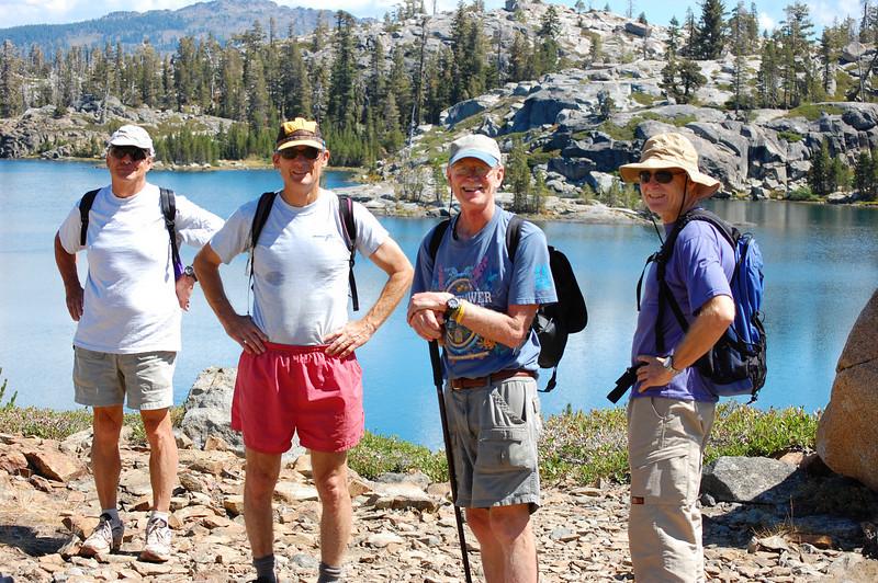 Rob, Scott, Doug, and Bill at Island Lake
