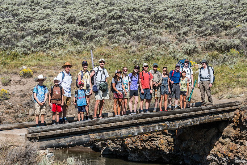 The whole gang from Roosevelt Lodge, Yellowstone 2012!