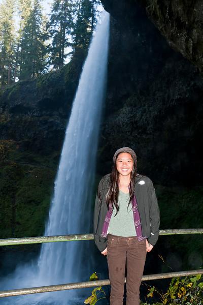 Sarah, South Falls trail, Silver Falls State Park, Oregon