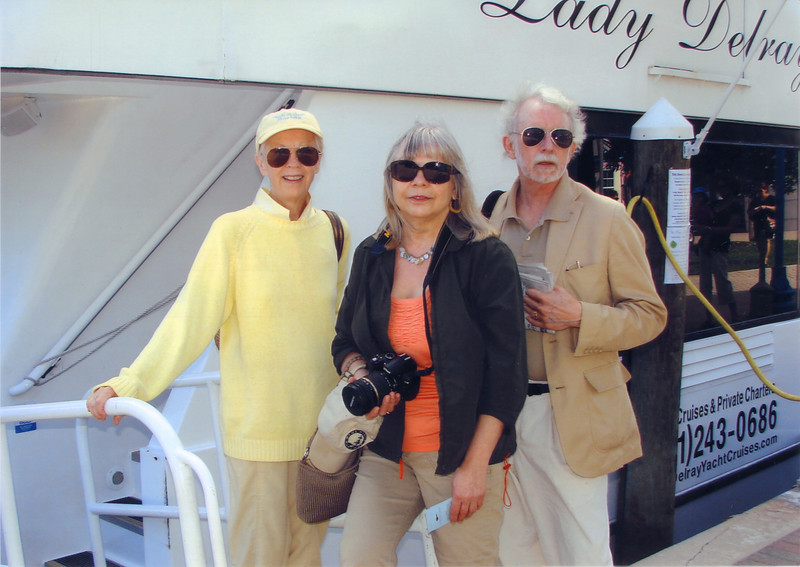 Gayle, Christine and I about to board the Lady Atlantic (rafted next to the Lady Delray) for what we thought was a northbound cruise on the Intracoastal that would take us by our house. <br /> <br /> Due to a bridge malfunction at George (H W) Bush Boulevard, the boat spun 360 degrees and we went to Boca instead.