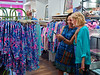 Gayle and Kathleen at Lily Pulitzer shopping for wedding dresses; Bob in the background