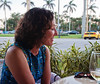 Kathleen at dinner on Palm Beach Island