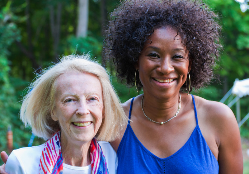 Gayle and Tonya at the graduation party for her twin daughters with whom she was pregnant when Gayle met her