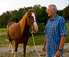 Friend Bill and his horse James. (He didn't want me to say any more about his [and James] achievements and antecedents, but I would say they are both aristos.)