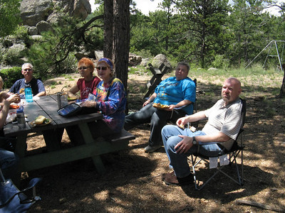Actually, it's a very friendly group, but they take lunch seriously. :)