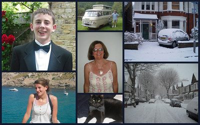 Family collage created by Anne