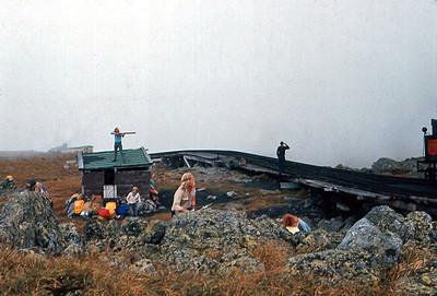 'Indian' raid on the cog railway as hit goes up to Mt. Washington.