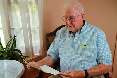 Dr. Gene Washburn, close friend of the Town and University; Fall 2012.