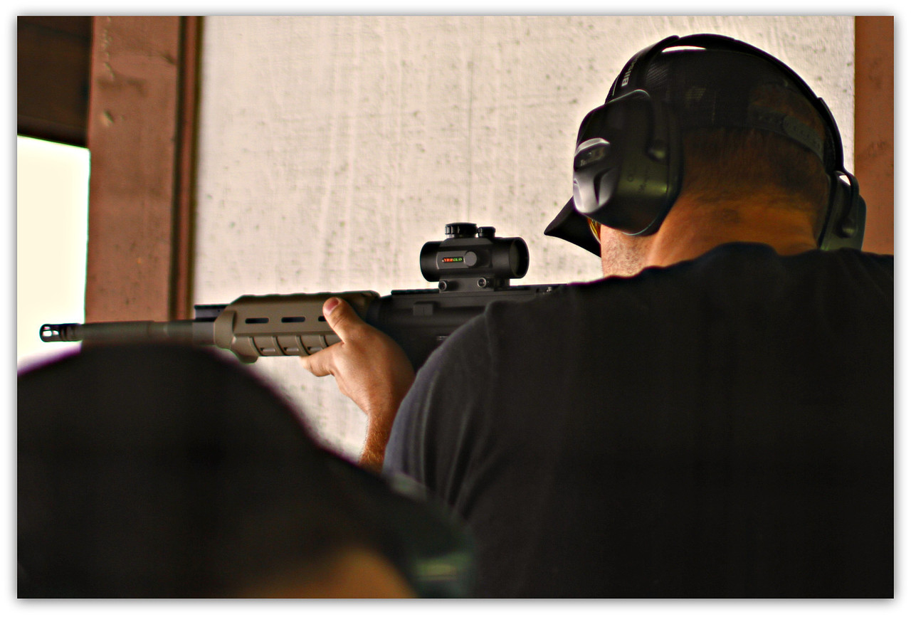 Dustin's 1st shot with his AR-15