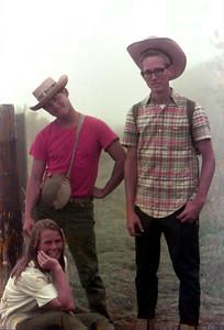 Judy. Jim. Jeff. On the Haleakala Holua trail. 1966?
