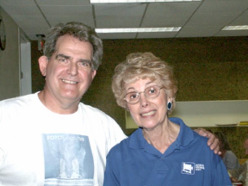 Joe and Elinor Stecker-Orel, 20 years later at NECCC 2003 (photo: Mano Orel)