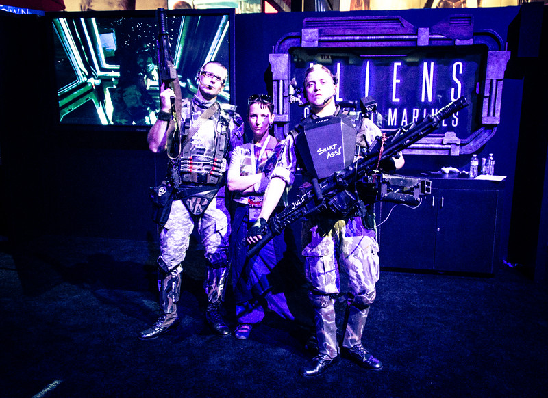 Larisa Nuretdinova and Aliens: Colonial Marines at E3 2012