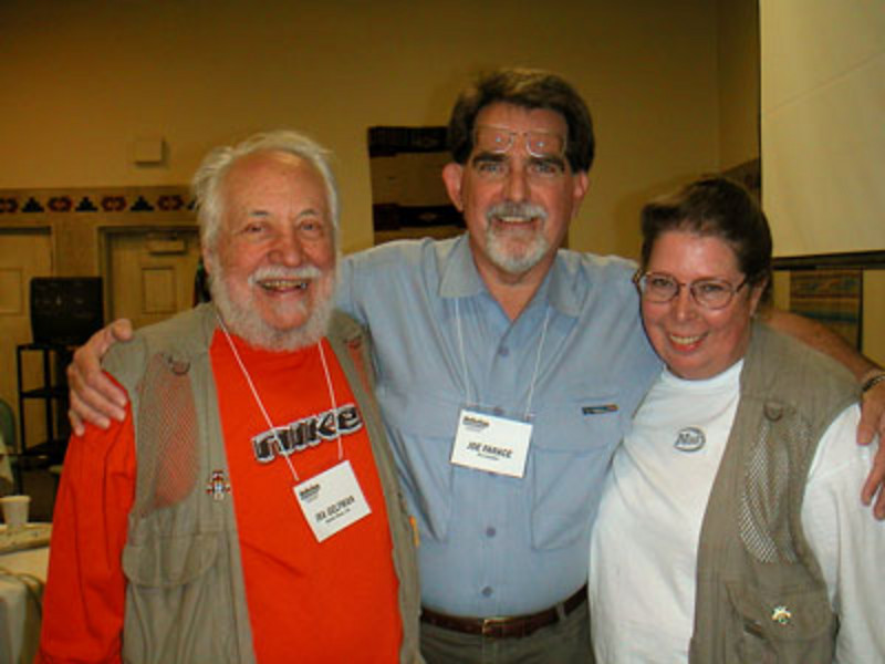 Ira, Joe, and Janet at Taos workshop: My favorite students of all Time! (photo: Mary Farace)