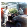 Joe with pal Ron Snow in the early stages of restoring a vintage Arnolt-Bristol sports car, May 1970